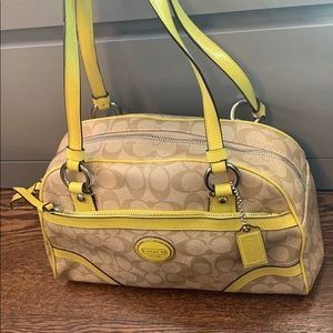 Authentic Yellow coach purse